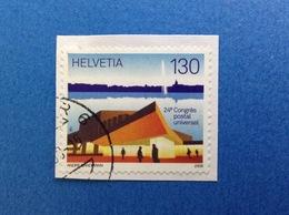 2008 SVIZZERA HELVETIA FRANCOBOLLO USATO STAMP USED CONGRESSO POSTALE UNIVERSALE 130 - Switzerland