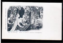 CAMBODIA  Cambodge Statues De Pierre Et Danseuses Cambodgiennes  Ca 1910 OLD POSTCARD 2 Scans - Cambodia