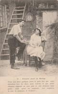 Fantaisie : Couple : Première Année De Mariage ( Au Dos Tampon Perlé La Motte De Galaure - Drome ) - Couples