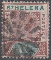 ST. HELENA    SCOTT NO.  42     USED     YEAR  1890 - Grande-Bretagne (ex-colonies & Protectorats)