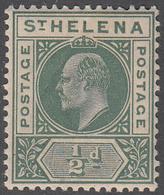ST. HELENA    SCOTT NO.  48     MINT HINGED     YEAR  1902 - Grande-Bretagne (ex-colonies & Protectorats)