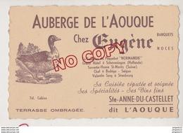 Au Plus Rapide Auberge L'Aouque Chez Eugène Ex Cuisinier Paquebot Normandie Ste Anne Du Castellet - Visiting Cards