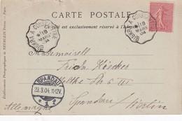 """ALGERIE 1904 CARTE POSTALE DE BISKRA """"LA RUE DESOULED-NAILS""""  CACHET FERROVIAIRE BISKRA-CONSTANTINE - Lettres & Documents"""