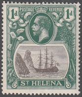 ST. HELENA    SCOTT NO.  80    MINT HINGED     YEAR  1922 - Grande-Bretagne (ex-colonies & Protectorats)