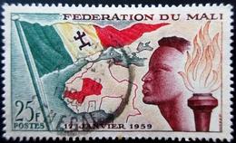 1959 Mali Yt 1 . Mi 1 . Establishment Of Mali Federation . Oblitéré - Mali (1959-...)