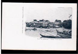 CAMBODIA  Cambodge Village Cambodgien Ca 1910 OLD POSTCARD 2 Scans - Cambodia