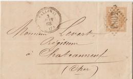 N° 28 (2x -1 Coin Rond  )  /DEUX L.  (. ) GC L. 4053 & 4436 De USSON DU POITOU & NALLIERS /  Les 28.5 & 40.10.1868-> Lu - Marcophilie (Lettres)