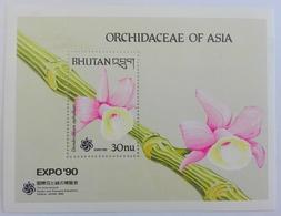 Bhutan** Bl. 251. Orchidaceae Of Asia. MNH [3;72] - Orchidées