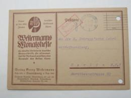1923 , Gebühr Bezahlt , Beleg Aus  BRAUNSCHWEIG - Briefe U. Dokumente