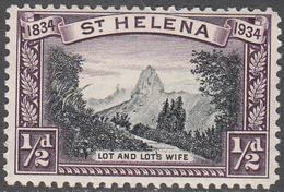 ST. HELENA    SCOTT NO.  101    MINT HINGED     YEAR  1934 - Grande-Bretagne (ex-colonies & Protectorats)