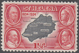ST. HELENA    SCOTT NO.  103    MINT HINGED     YEAR  1934 - Grande-Bretagne (ex-colonies & Protectorats)