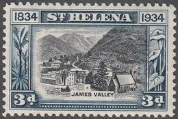 ST. HELENA    SCOTT NO.  105    MINT HINGED     YEAR  1934 - Grande-Bretagne (ex-colonies & Protectorats)