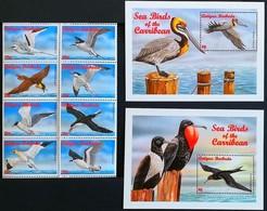 Antigua Barbuda 1995** Mi.2378-85 + Bl.344, 345. Sea Birds MNH [4;12/59/71,6;20] - Oiseaux