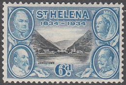 ST. HELENA    SCOTT NO.  106    MINT HINGED     YEAR  1934 - Grande-Bretagne (ex-colonies & Protectorats)