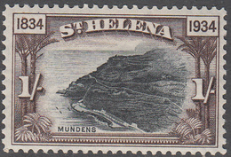 ST. HELENA    SCOTT NO.  107    MINT HINGED     YEAR  1934 - Grande-Bretagne (ex-colonies & Protectorats)