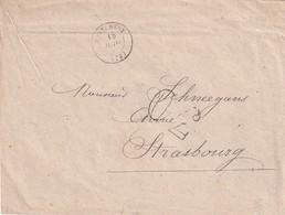 FRANCE 1868 LETTRE DE MONTLHERY POUR STRASBOURG TAXE 30 - Marcophilie (Lettres)