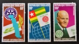 ROTARY INTERNATIONAL 1972 - NEUFS ** - YT PA 188/90 - MI 942A/44A - Togo (1960-...)