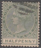ST. CHRISTOPHER     SCOTT NO.  8    USED    YEAR  1882 - Grande-Bretagne (ex-colonies & Protectorats)