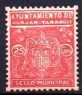 GUAJAR-FARAGÜIT (GRANADA). Mun. 25cts - Emisiones Nacionalistas