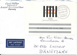 Germany Cover Sent To Denmark Quierschied Saar 30-9-1994 With Mini Sheet - [7] Federal Republic