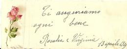 """1988 """" BIGLIETTO AUGURALE - ROSA -  13 APRILE 1924 """" BIGLIETTO ILL. ORIG. - Vecchi Documenti"""