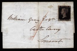 A5761) UK Great Britain Cover With Penny Black Mi.1 - 1840-1901 (Viktoria)