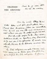 1894 - L.A.S. Alfred NAQUET (1834-1916) - Député Et Sénateur Du VAUCLUSE - Boulangiste - Affaire De Panama - Autographes
