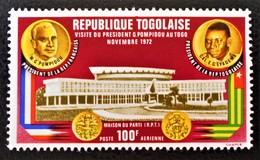 VISITE DU PRESIDENT POMPIDOU 1972 - NEUF ** - YT PA 191 - MI 952A - Togo (1960-...)