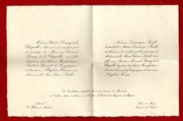 FAIRE PART DE MARIAGE FAMILLE LAMY & SOULE  -  LE PALAIS SUR VIENNE & BAGNERES DE BIGORRE 1925 - Mariage