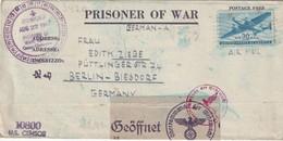 USA 1944 LETTRE CENSUREE  DE PRISONNIER  DE GUERRE DE NEW-YORK CAMP OF CLAIBORNE - Etats-Unis