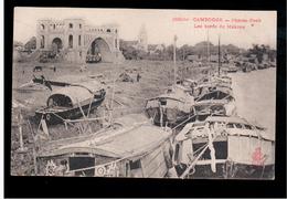 CAMBODIA  Cambodge Phnom-Penh - Les Bords Du Mekong Ca 1910 OLD POSTCARD 2 Scans - Cambodia
