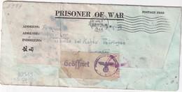 USA 1944 LETTRE CENSUREE  DE PRISONNIER  DE GUERRE DE NEW-YORK FOPRT ROBINSON - Etats-Unis