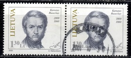 LT+ Litauen 2000 Mi 726 Kanutas Ruseckas - Lithuania