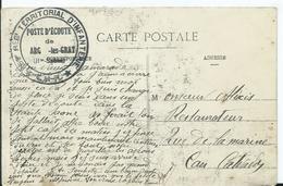 CACHET MILITAIRE - POSTE D ECOUTE DE ARC Les GRAY - Marcophilie (Lettres)