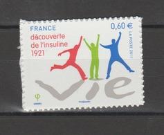 FRANCE / 2011 / Y&T N° AA 635 ** : Découverte De L'insuline - Etat D'origine - Adhésifs (autocollants)