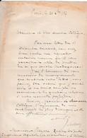1887- L.S. François Césaire De MAHY (1830-1906) - Député De LA REUNION - Médecin - Journaliste - MADAGASCAR - Documents Historiques