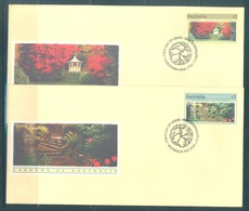 AUSTRALIA  - FDC - 13.9.1989 - GARDENS - Yv 1128-1129  - Lot 18652 - Premiers Jours (FDC)