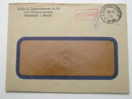 1923 , Gebühr Bezahlt , Beleg Aus  Ludwigslust, Rückklappe Fehlt - Briefe U. Dokumente