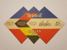 Amusant Dépliant Publicitaire Cycle Terrot 1953 Cyclo Camping  Cyclotourisme Course ...... - Advertising