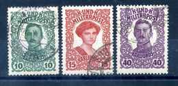 1918 BOSNIA 138/140 SET USATO - Oriente Austriaco