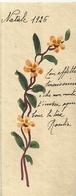 """1990 """" BIGLIETTO AUGURALE - ANNI '20 - RAMETTI FIORITI-  NATALE 1926 """" BIGLIETTO ILL. ORIG. - Vieux Papiers"""