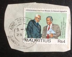 Île Maurice : Timbre Oblitéré Sur Coin D'enveloppe - 1990 - Maurice (1968-...)