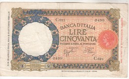 3386   ITALIA  50  CINQVANTA   LIRE 1933--1940 - [ 1] …-1946 : Reino