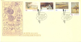 AUSTRALIA  - FDC - 23.8.1989 - AUSTRALIAN IMPRESSIONISTS - Yv 1122-1125  - Lot 18653 - Premiers Jours (FDC)