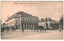 LIèGE  Théâtre Royal Et Statue Grétry. - Luik