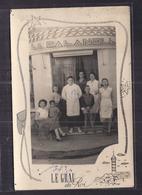 CPSM 30 - LE GRAU DU ROI - SUPERBE PLAN Avec TB ANIMATION Devanture LA CALANQUE Personnes Nommées Verso 1954 - Le Grau-du-Roi