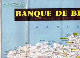 Grande CARTE ROUTIERE De BRETAGNE  Offerte Par La BANQUE De BRETAGNE .+ 1 CARTE IGN - Cartes Routières