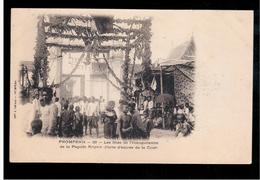 CAMBODIA  Cambodge Phnom Penh Les Fetes De L'Inauguration De La Pagode Royale Ca 1910 OLD POSTCARD 2 Scans - Cambodia