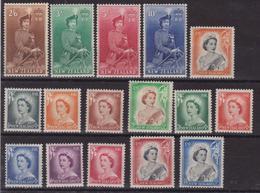 New Zeland 651 * 1953 Elisabetta II, SG N. 723/736. Cat. £ 100,00. MH - 1855-1907 Colonia Britannica