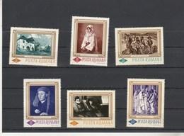 Roumanie 1966 Yvert Série 2248 à 2253 ** Neufs Sans Charnière Tableaux - 1948-.... Républiques